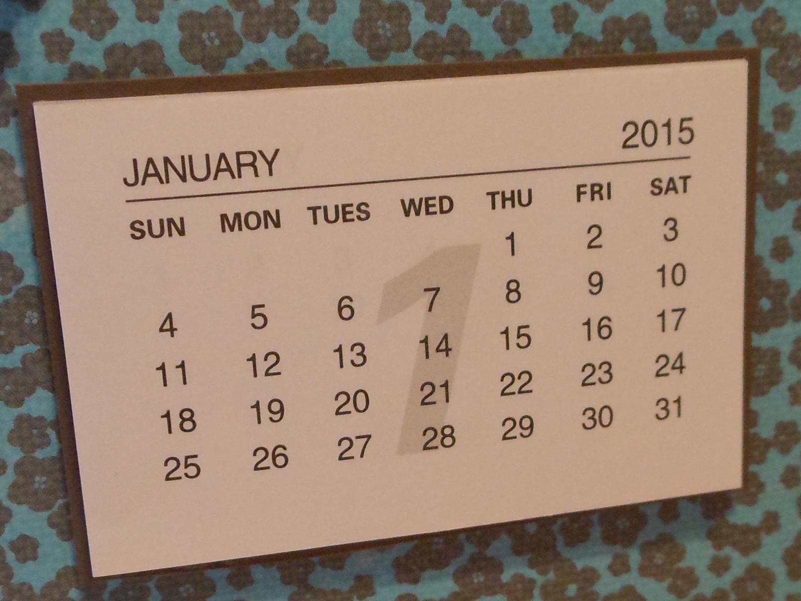 Minikalender Biggis Bastelwelt