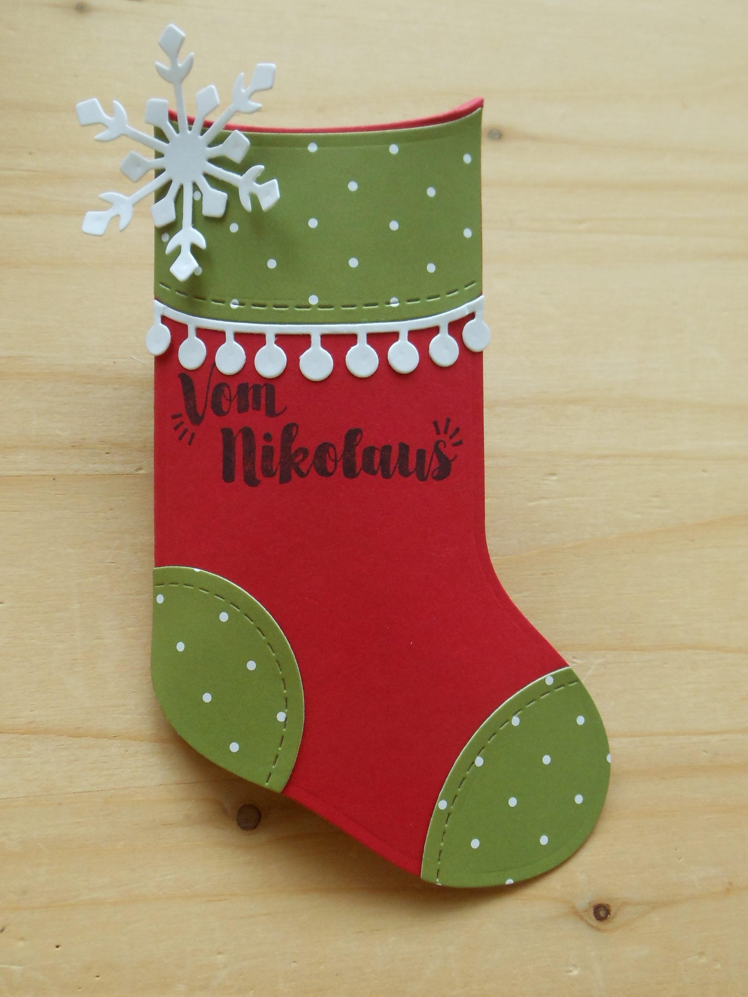 stampin up holiday stocking baby christmas Big Shot Nikolaus