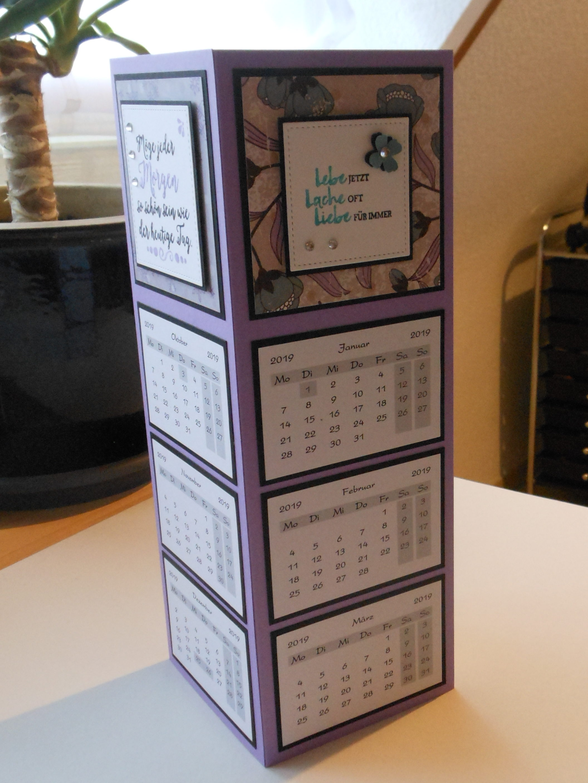 Kalendertischkalender Basteln Biggis Bastelwelt
