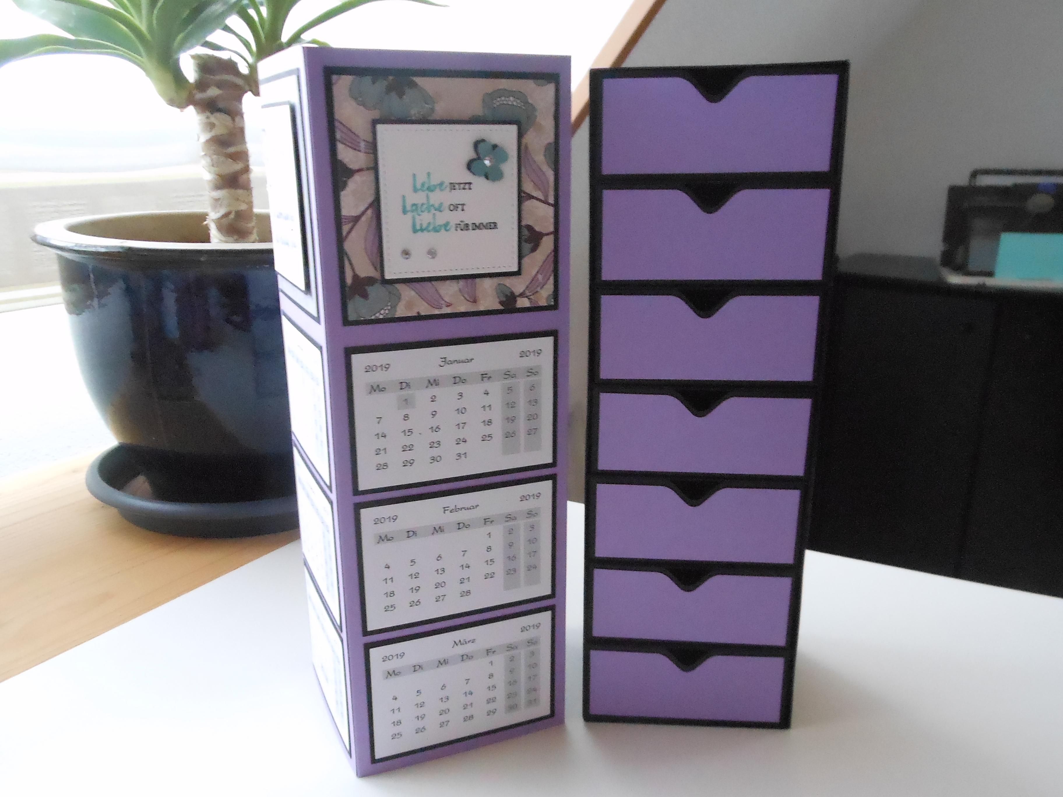 Mini Tischkalender Aufbewahrungs Tower Basteln Biggis